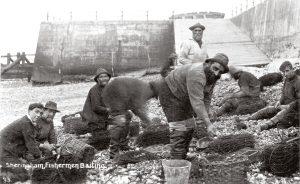 Sheringham Fishermen baiting
